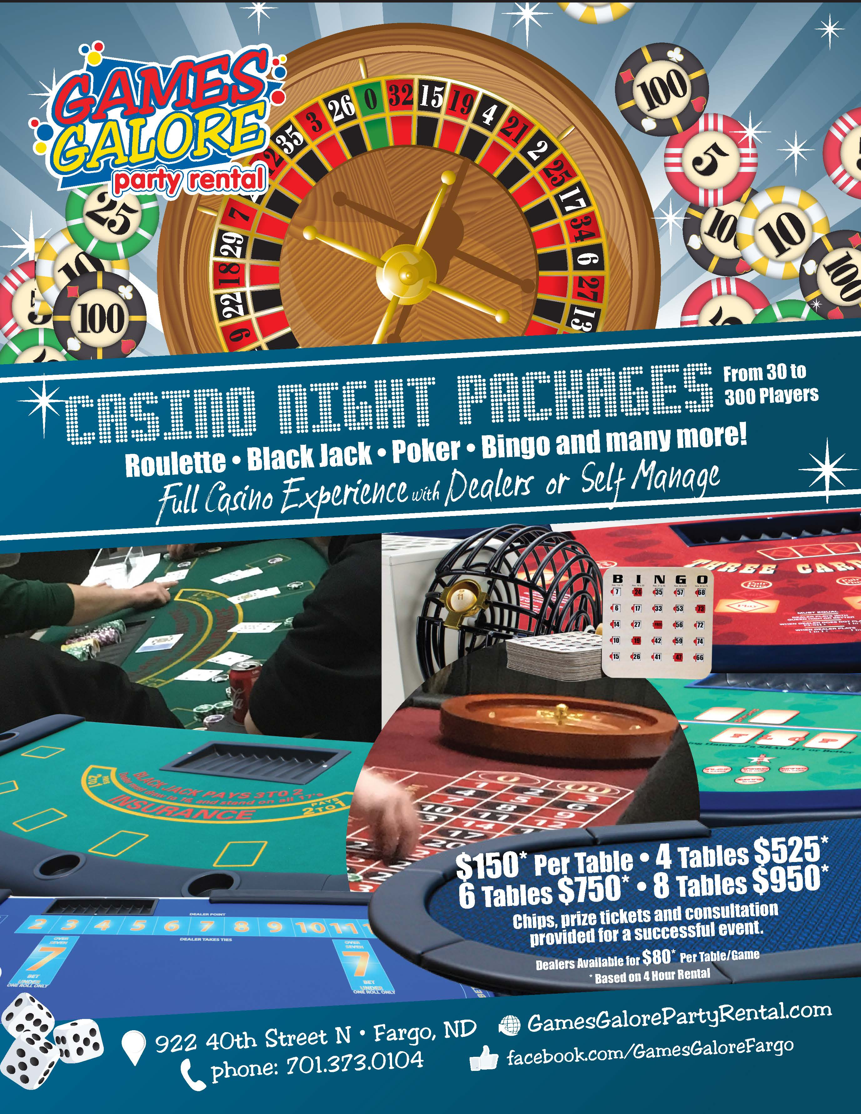 Casino Night Image Flier and Packages