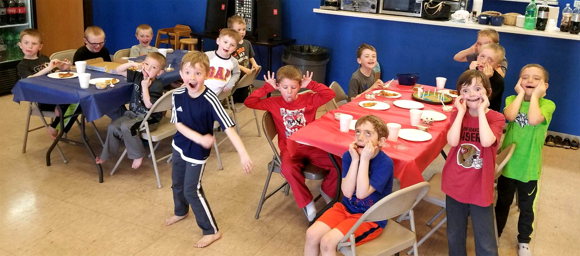 Party Zone Indoor Party Center Slider Kids Playing