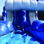Blue Water Slide 22 feet high