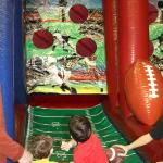 Fist Down Football Toss Game in Play Inside with Kids