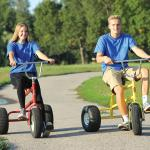Giant Trikes Red and Yellow Teen Fun