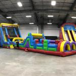 Vertical Rush Obstacle and Climbing Wall with Slide Indoor
