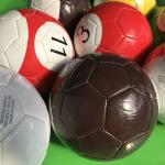 Inflatable Pool Table Oversized Balls Close Up Image