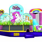 Unicorn 5 in 1 bounce house