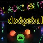 Blacklight Dodgeball Set up