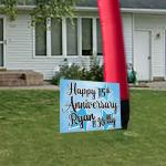 Custom Anniversary Yard Sign