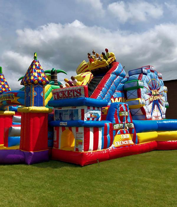 Midway Amusement Inflatable on site