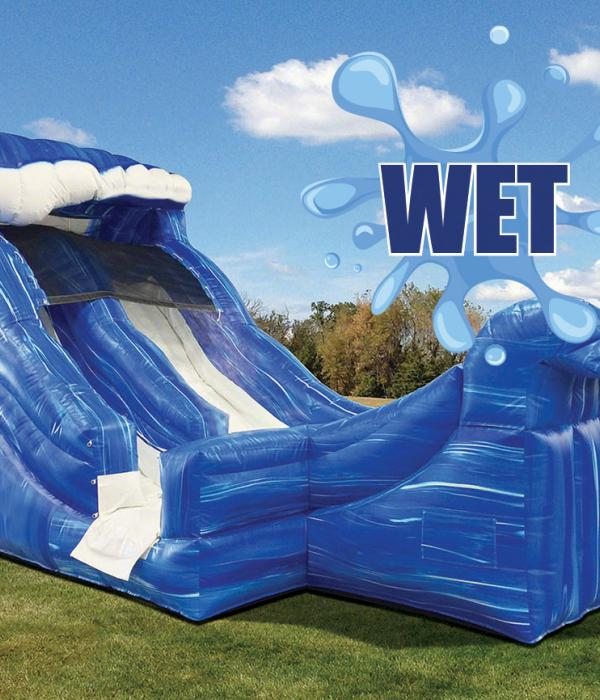 Wild Wave Mini Water Slide Side View, Water Slide Logo